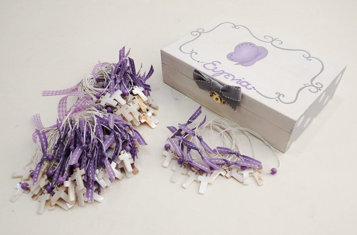 Κουτί μαρτυρικών πεταλούδα λιλά VL003-18