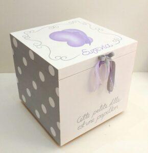 Κουτί βάπτισης Πεταλούδα λιλά VK070