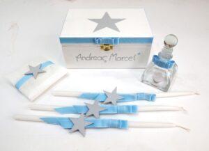 """Σετ λαδικών """"Aστέρι"""" γκρι-μπλε VL001-54"""