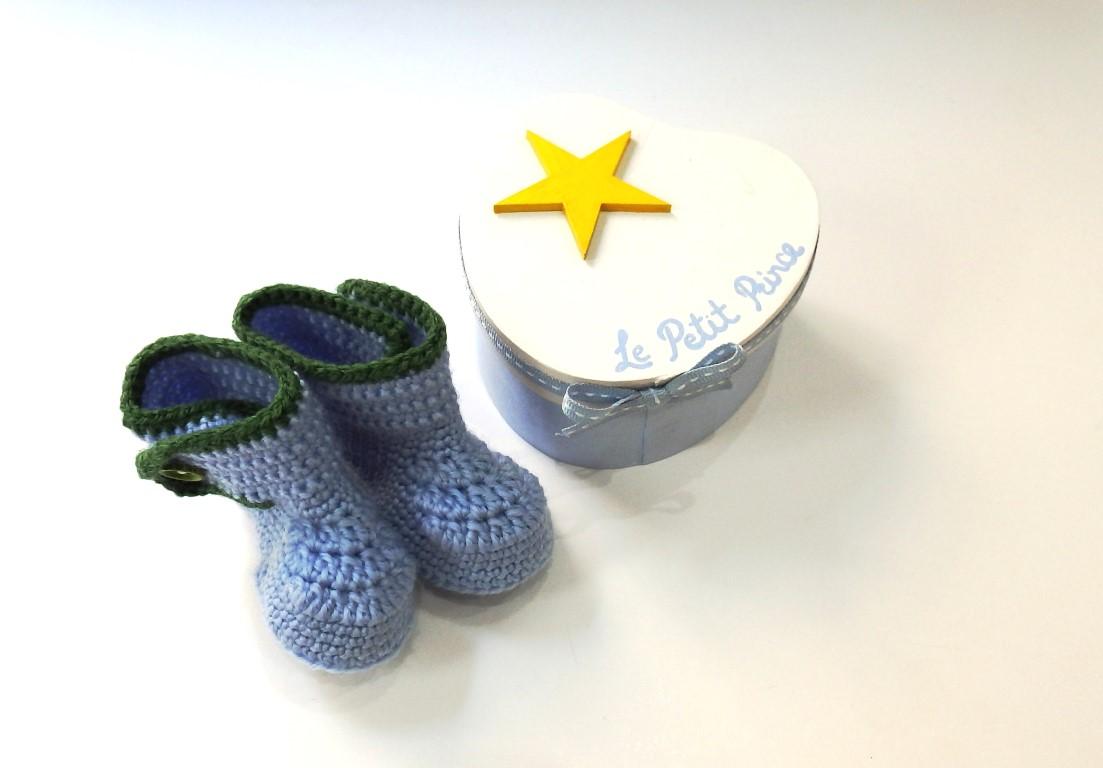 Σετ δώρου για νεογέννητα παπουτσάκι με κουτάκι NBG082