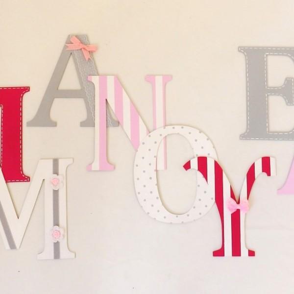 Ξύλινα γράμματα για τον τοίχο ZG054