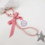 μπομπονιέρες-αστερι-κρεμαστή-ροζ