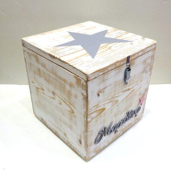 Κουτί βάπτισης ξύλινο αστέρι - VK079