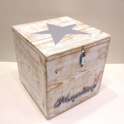 Κουτί βάπτισης ξύλινο αστέρι – VK079