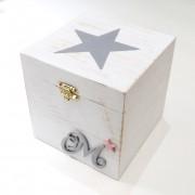 Ζωγραφιστό κουτάκι με μονόγραμμα ξύλινο – DZK047
