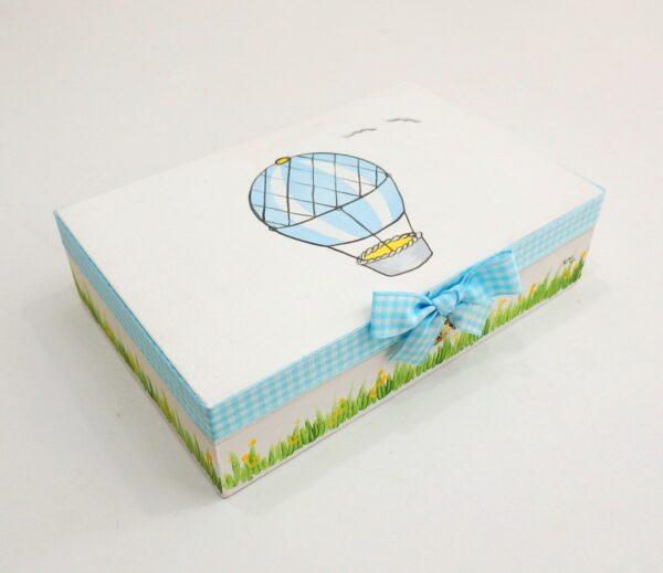 Κασετίνα μαρτυρικών αερόστατο γαλάζιο-γκρι VL003-23