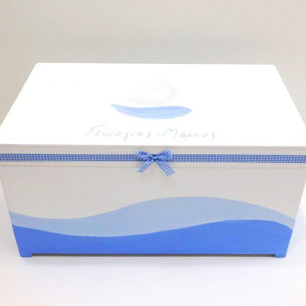 Κουτί βάπτισης καραβάκι- VK084