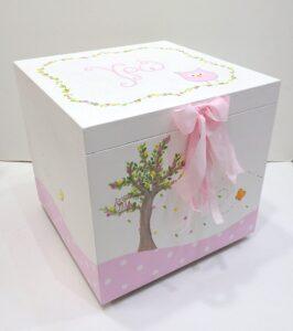 Κουτί βάπτισης κουκουβαγίτσα - VK085