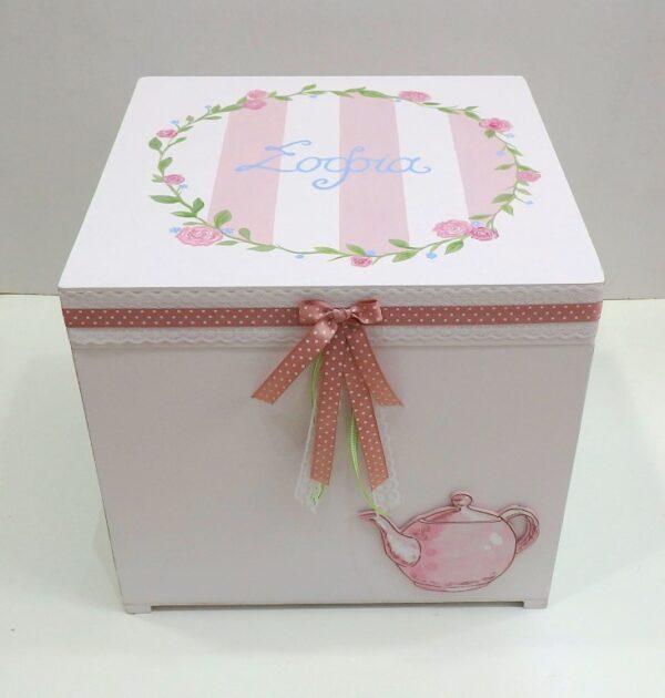 Κουτί βάπτισης τσαγιέρα - VK081