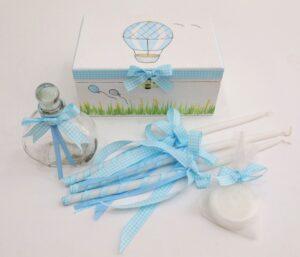 Σετ λαδικών Αερόστατο γαλάζιο γκρι - VL001-58