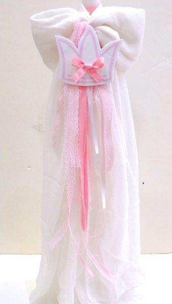 """Λαμπάδα βάπτισης """"Κορώνα ροζ"""" VL004-60"""