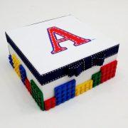 Χειροποίητη κασετίνα μαρτυρικών Lego     VL003-26