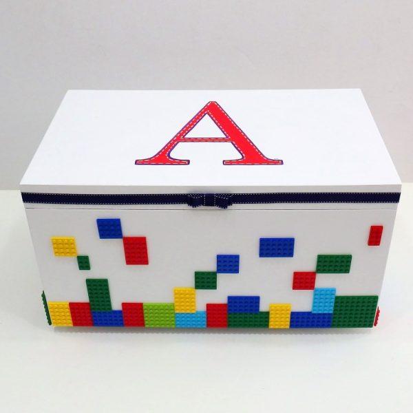 Χειροποίητο κουτί βάπτισης Lego VK086
