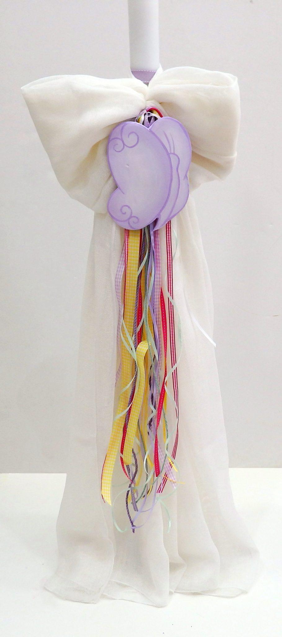Λαμπάδα βάπτισης Πεταλούδα (πολύχρωμη) VL004-72