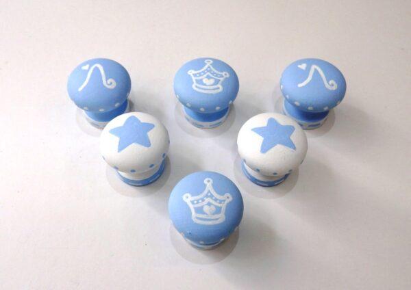 Πομολάκια σε γαλάζιο - λευκό ZP018