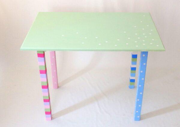 Ζωγραφιστό, χειροποίητο τραπέζι - γραφειάκι DE038