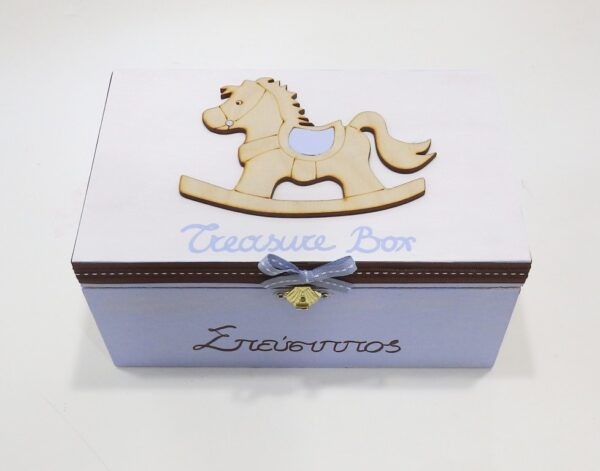 Ζωγραφιστό κουτί αναμνήσεων καρουσέλ - DZK048