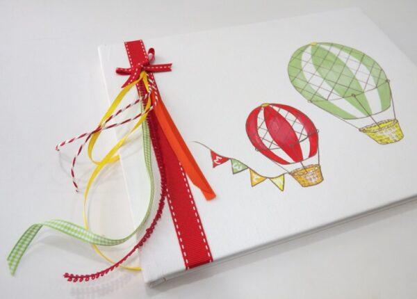 Βιβλίο ευχών Αερόστατα πολύχρωμο - BE036