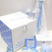 Σετ βάπτισης για αγόρι (λευκό-γαλάζιο) – VS097