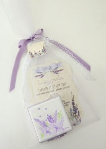 Μπομπονιέρα προσκλητήριο κουτάκι Λεβάντα - VBK130