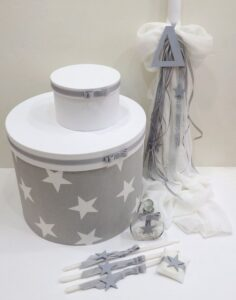 Είδη βάπτισης Αστέρι με καπελιέρα