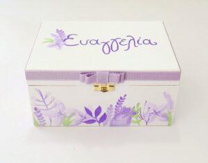 Ζωγραφιστό κουτί Λεβάντες DZK053