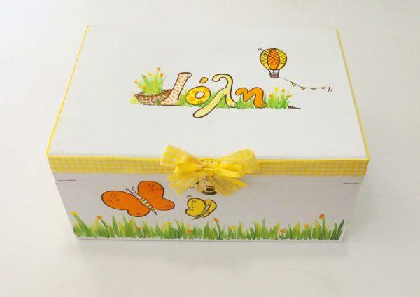 Ζωγραφιστό κουτί Πεταλούδες DZK054
