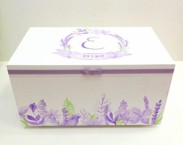 Κουτί βάπτισης Λεβάντες VK098