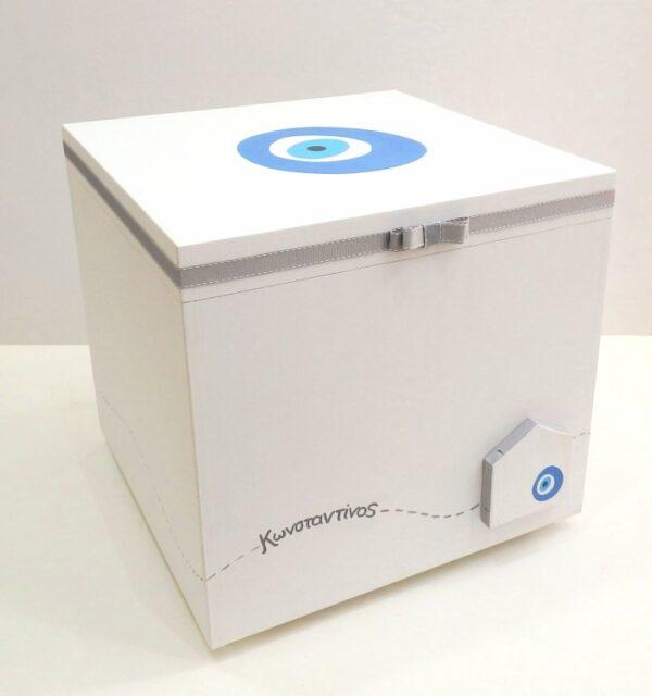 Κουτί βάπτισης Μάτι (σπιτάκι) - VK100