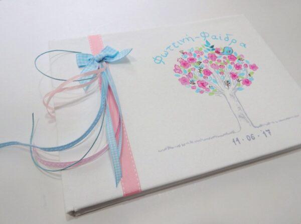 Βιβλίο ευχών δεντράκι με πουλάκι - BE039