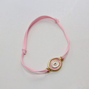 Μαρτυρικό βραχιολάκι Μάτι ροζ - BM111