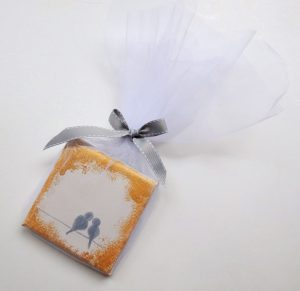Μπομπονιέρες γάμου καδράκι Πουλιά - WB102