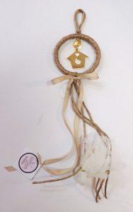 Μπομπονιέρα γάμου σπιτάκι κρεμαστή- WB099
