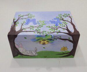 Ζωγραφιστό κουτί κουνελάκι - DZK056