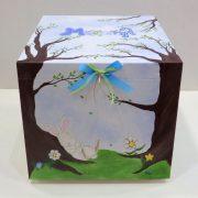 Ζωγραφισμένο κουτί βάπτισης κουνελάκι στο δάσος – VK101