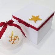 Χριστουγεννιάτικη μπομπονιέρα γάμου μπάλα σε κουτί – WB103