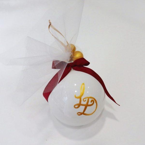 Χριστουγεννιάτικη μπομπονιέρα γάμου με μονογράμματα - WB105