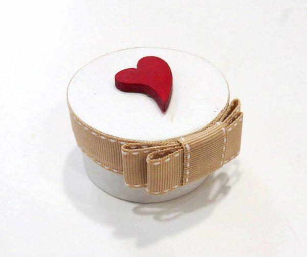 Μπομπονιέρα γάμου κουτάκι καρδούλα - WB112
