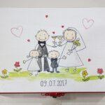 Ζωγραφιστή στεφανοθήκη happy family  – WB021