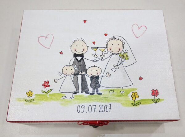 Ζωγραφιστή στεφανοθήκη happy family - WB021