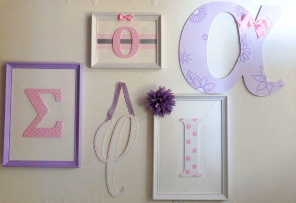 Σύνθεση τοίχου για δωμάτιο κοριτσιού - ZG083