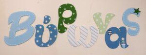 Ξύλινα γράμματα τοίχου για αγόρι - ZG084