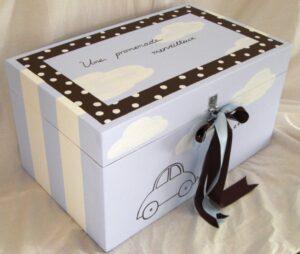Κουτί παιχνιδιών αυτοκινητάκι ριγέ