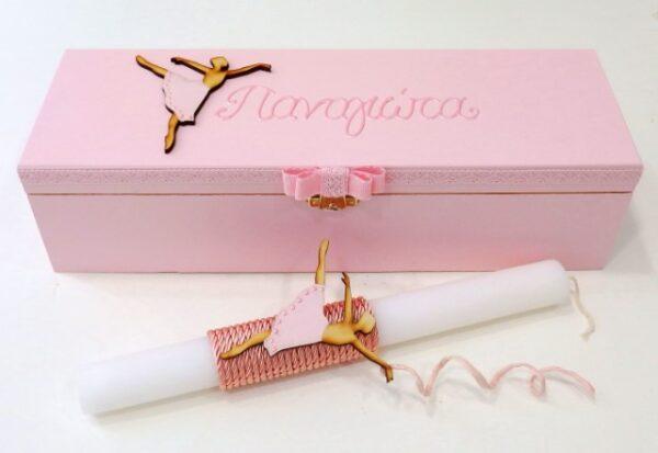 Πασχαλινή λαμπάδα σε κουτί για κορίτσι Μπαλαρίνα