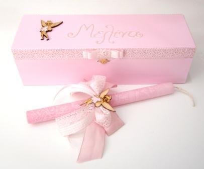 Πασχαλινή λαμπάδα σε κουτί για κορίτσι Νεράιδα