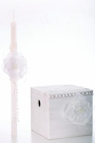 Βαπτιστικό σετ broderi λευκό για κορίτσι VS123