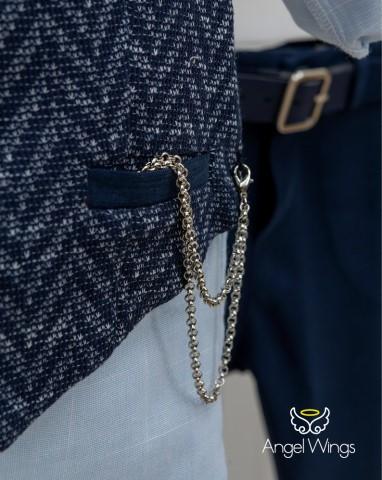 Βαπτιστικά ρούχα για αγόρι Victor 163 Navy Blue