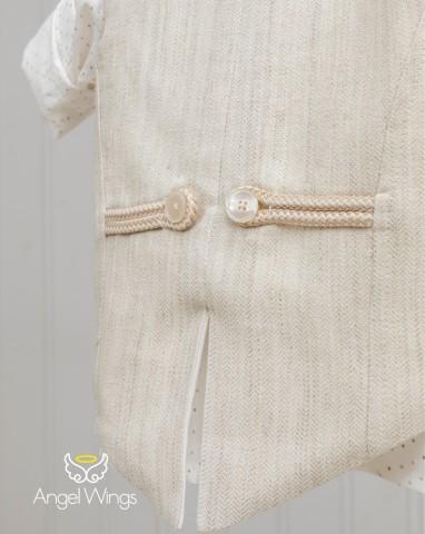 Βαπτιστικά ρούχα για αγόρι Jarvis 167 Μπεζ καφέ