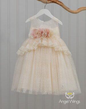 Βαπτιστικό φόρεμα Sylia 179 εκρού