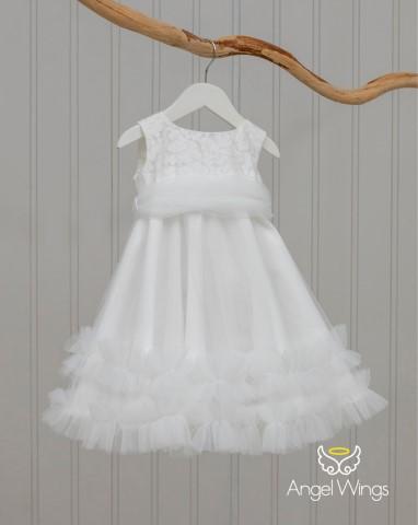 Βαπτιστικό φόρεμα Ennie 21001 Λευκό